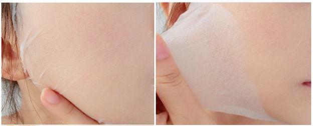具超强的亲肤性,透气不滴水,低敏性,还具有能贴入皱纹与皮丘深处的包覆能力,提升敷面的效果,并可紧贴肌肤,不会出现一般面膜材质容易出现的脱落现象,